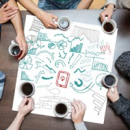 Work Team Meeting Diagram Chart Poster-t