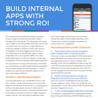 Build Internal Apps with Strong ROI t