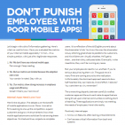 Dont punish employees with poor mobile apps t