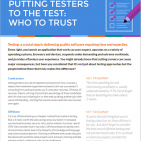 Putting Testers to the Test article front page