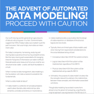 The Advent of Automated Data Modeling Proceed with Caution first page