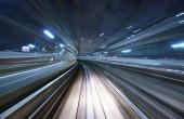 Motion Blur Monorail Track