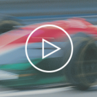 blurred motion image of a formula 1 race car