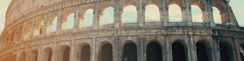 Two rows of Roman arches stacked on each other